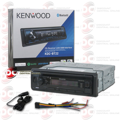 Kenwood 1-Din KDC-BT22 Car CD Receiver with BLuetooth