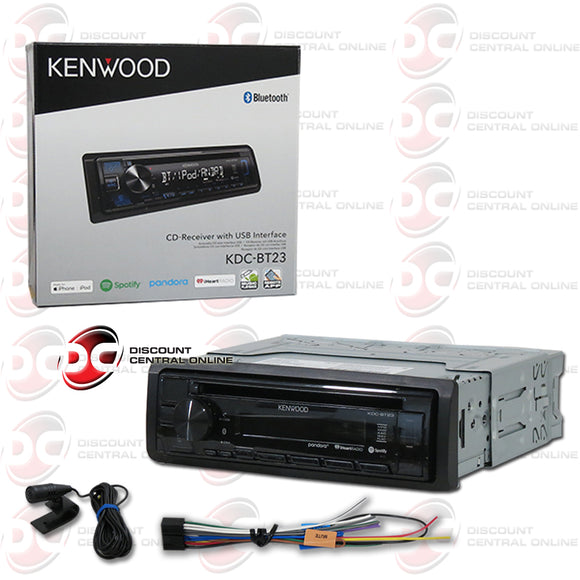 Kenwood KDC-BT23 1-DIN CD Car Stereo with Bluetooth Capability And Spotify Control