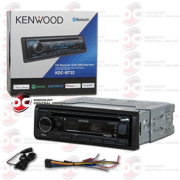 Kenwood KDC-BT32 1-Din Car AM/FM/CD Receiver with Bluetooth and Android Playback