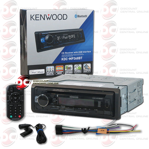 KENWOOD KDC-MP368BT SINGLE DIN CAR AUDIO STEREO WITH AM/FM/CD/BLUETOOTH CAPABILITY
