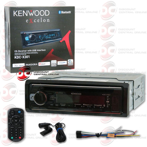 Kenwood KDC-X301 Multimedia Receiver with CD/FM/AM/AUX/Bluetooth Compatibility (Excelon Series)