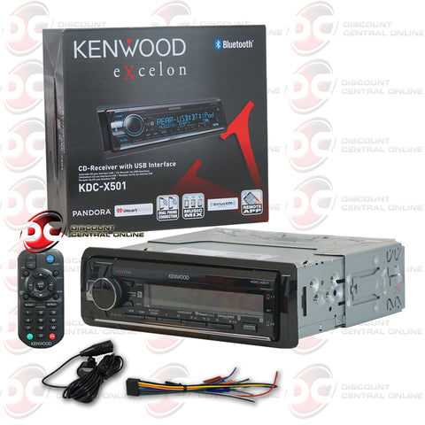 KENWOOD EXCELON KDC-X501 SINGLE AM/FM/CD/MP3/BLUETOOTH CAR AUDIO STEREO WITH IPHONE/ANDROID SUPPORT