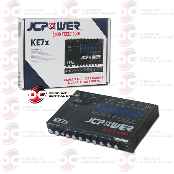 JC Power KE7x Seven Band Equalizer with Six Channels