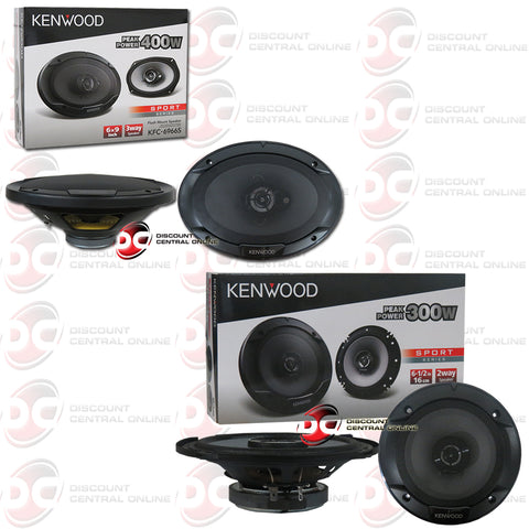 "Kenwood KFC-6966S 6x9"" 3-Way Car Audio Coaxial Speakers Plus 6.5"" 2-Way Car Audio Speakers"
