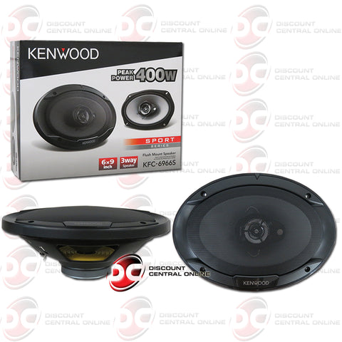 "Kenwood KFC-6966S 6x9"" 3-Way Car Audio Coaxial Speakers"