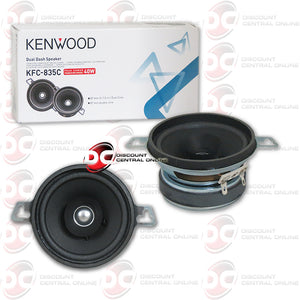 Kenwood KFC-835C 3.5-inch 2-way Car Audio Dual Cone Water Resist Speakers (Pair)