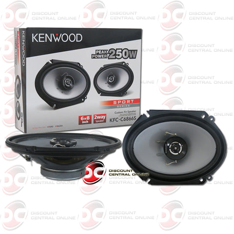 "2x Kenwood KFC-C6866S 6"" x 8"" 2-Way Car Audio Coaxial Speakers"