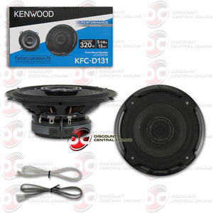 "KENWOOD KFC-D131 5.25"" 2-WAY CAR COAXIAL SPEAKERS"