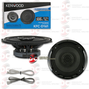 "KENWOOD KFC-D161 6.5"" 2-WAY CAR COAXIAL SPEAKERS"