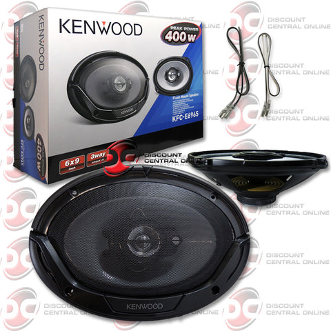 "4 x KENWOOD KFC-E6965 6"" x 9"" 3-WAY CAR AUDIO SPEAKERS"