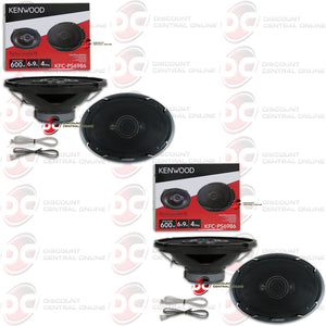 "Kenwood 6x9"" Car Audio 4-way Coaxial Speakers (2 pairs)"