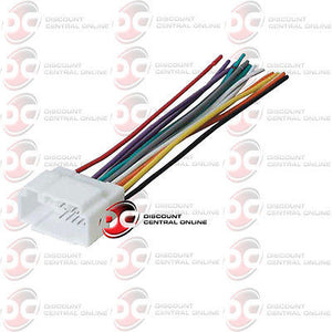 aftermarket stereo wiring harness aftermarket stereo wiring harness for select 1998 2008 honda  aftermarket stereo wiring harness for