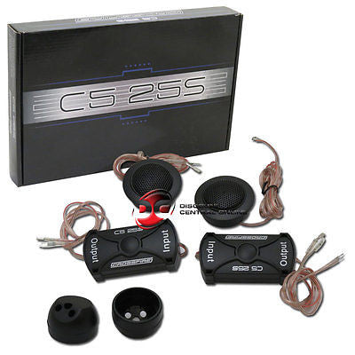"NEW CROSSFIRE 1"" SILK DOME CAR AUDIO TWEETERS WITH CROSSOVERS (PAIR)"