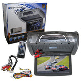 "SOUNDSTREAM 10.3"" FLIP DOWN OVERHEAD MONITOR DVD PLAYER + WIRELESS REMOTE GRAY"
