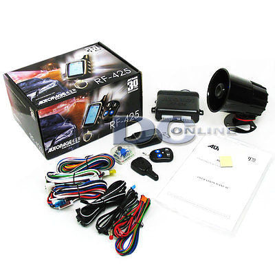 Autopage RF425 4-channel Car Alarm Security W/ 2-Way AM/AM LCD Transmitter