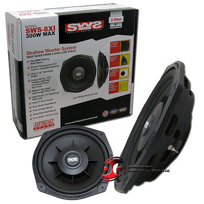"BRAND NEW EARTHQUAKE 8"" CAR 2-OHM SLIM SUBWOOFER SHALLOW WOOFER 300W MAX"