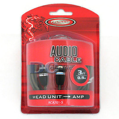 TSUNAMI RCA701-3 3 FEET RCA AUDIO CABLE