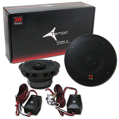 "MORELTEMPO 5 5.25"" 2-WAY CAR AUDIO COMPONENT SPEAKER SYSTEM (PAIR) Tempo 5"