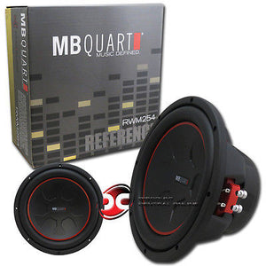 "MB QUART RWM254 10"" CAR AUDIO DUAL 4-OHM SUBWOOFER 350W RMS"