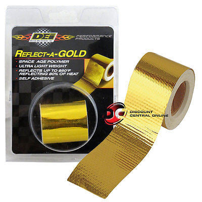 "DEI 010396 2"" self adhesive reflect a gold heat wrap barrier tape 15 feet roll"