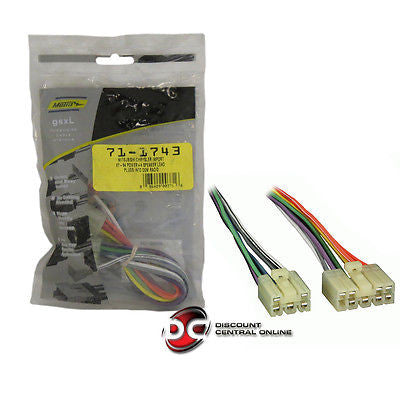 METRA 71-1743 REVERSE WIRING HARNESSES  FOR 1987-1994 CHRYSLER,DODGE& MITSUBISHI