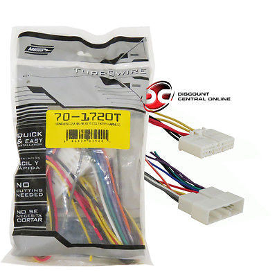 METRA 70-1720T WIRING HARNESS FOR 1996-1998 HONDA CIVIC VEHICLES
