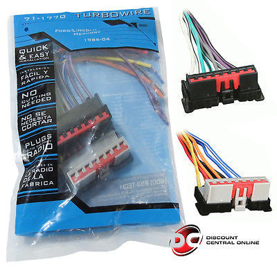 METRA 71-1770 REVERSE WIRING HARNESS FOR SELECT 1986-1997 FORD,LINCOLN & MERCURY