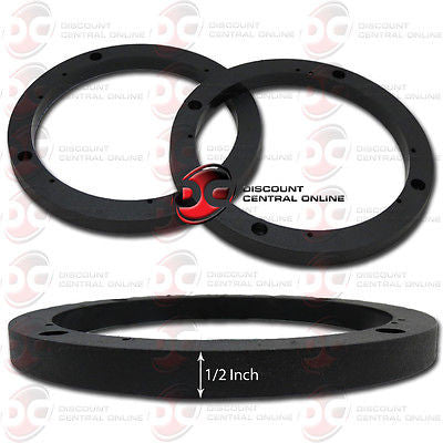 "6-1/2"" CAR BOAT SPEAKERS UNIVERSAL 1/2"" PLASTIC DEPTH RING ADAPTER / SPACER"