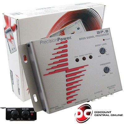 PRECISION POWER BP.8 BASS EXPANDER SIGNAL PROCESSOR+ 1-BAND PARAMETRIC EQUALIZER