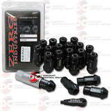HONDA CIVIC INTEGRA EXTENDED LUG NUTS 12x1.5mm 20pcs  WITH CAP AND KEY (BLACK)