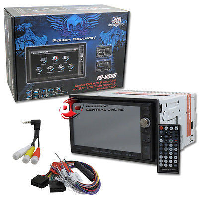 POWER ACOUSTIK IN-DASH DOUBLE DIN DVD RECEIVER 6.5