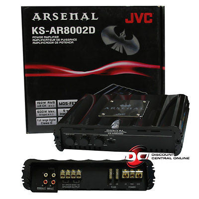 JVC KS-AR8002D CAR AUDIO 2-CHANNEL AMPLIFIER 340 WATTS RMS