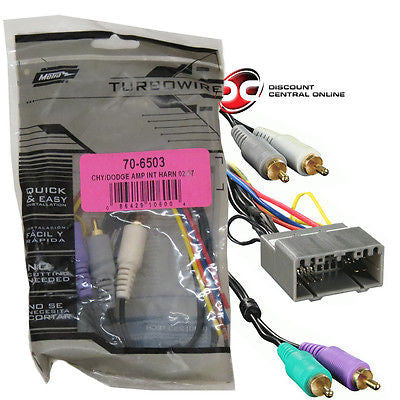 METRA 70-6503 AMPLIFIER INTEGRATION HARNESS FOR 2002-2004 CHRYSLER, DODGE & JEEP