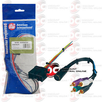 AMERICAN INTERNATIONAL DWH62A AMPLIFIER HARNESS 94-2007 DODGE & MITSUBISHI