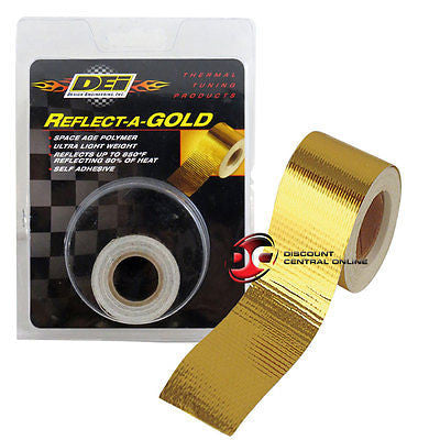 "DEI 010394 1.5"" SELF ADHESIVE REFLECT A GOLD HEAT WRAP BARRIER TAPE 15 FEET ROLL"