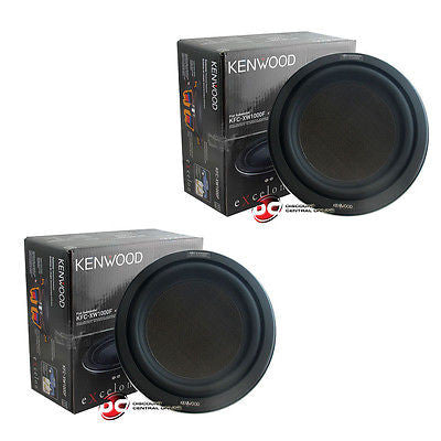 "2 x KENWOOD KFC-XW1000F 10"" SINGLE 4-OHM CAR SHALLOW MOUNT SUBWOOFER 250W RMS"