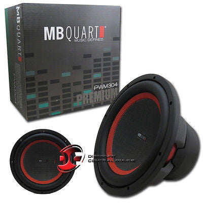 "MB QUART PWM304 12"" DVC CAR AUDIO DUAL 4-OHM SUBWOOFER 500W RMS 1000W MAX"