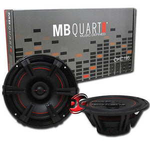 "BRAND NEW MB QUART 6.5-INCH 6-1/2"" 2-WAY CAR AUDIO COAXIAL SPEAKERS (PAIR)"