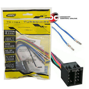 70-1784,VWH-1000 Absolute USA Inc. Absolute USA H1000//1784 Radio Wiring Harness for Volkswagen 1987-2002 Power 4 Speaker