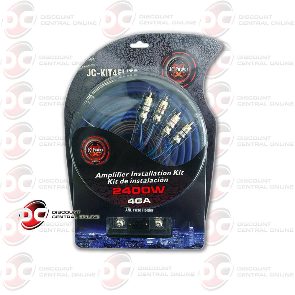 JC Power JCKIT4ELITE 4 Gauge AWG Blue Cable Power Amplifier Installation Kit