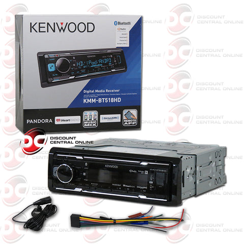 Kenwood KMM-BT518HD 1Din Car Digital Media Stereo W/ Bluetooth USB HD Radio