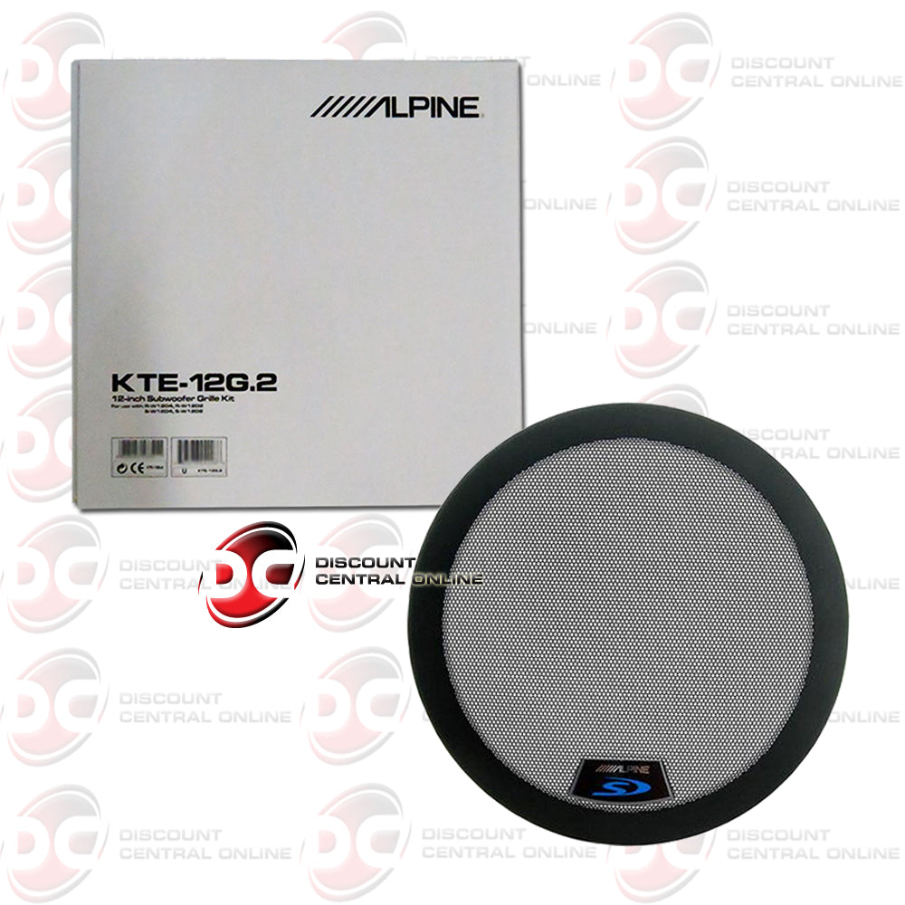 "Alpine KTE-12G.2 12"" Grille for Alpine Type R or Type S Subwoofers"