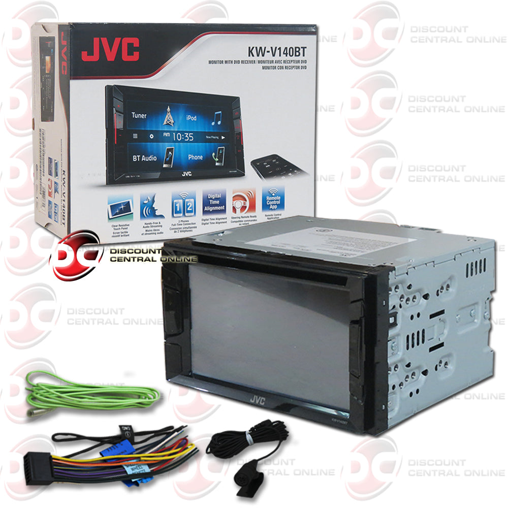 "JVC 2DIN KW-V140BT 6.2"" Car DVD CD Receiver with Bluetooth"
