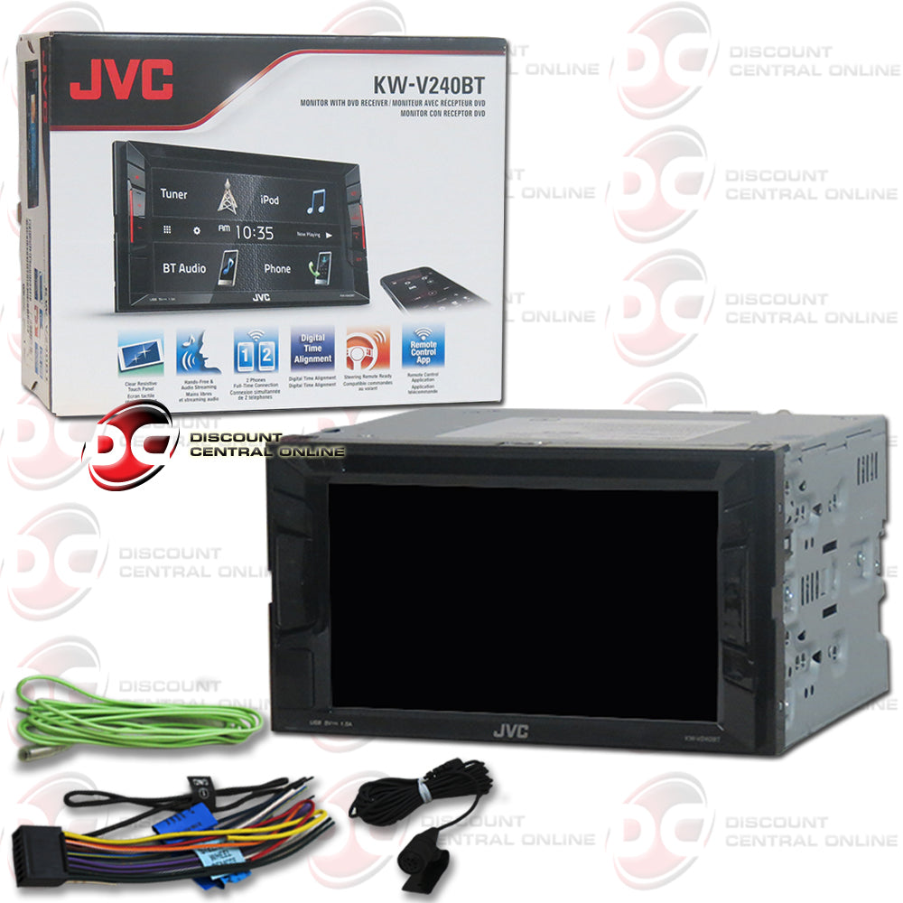 "JVC 2DIN KW-V240BT 6.2"" Car DVD CD Receiver with Bluetooth"