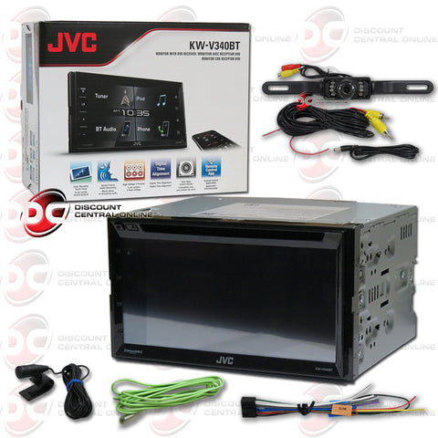 "JVC KW-V340BT 2-Din 6.2"" Car CD/DVD Receiver with Bluetooth and Android/Apple Control (with Back-up Camera)"