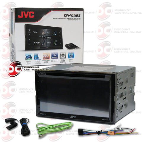 "JVC KW-V340BT 2-Din 6.2"" Car CD/DVD Receiver with Bluetooth and Android/Apple Control"