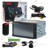 "JVC 2DIN KW-V41BT 7"" Car DVD CD Receiver Bluetooth with Pandora control for iPhone and Android"