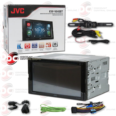 "JVC KW-V640BT 2-Din Car 6.8"" Car AM/FM/CD/DVD Receiver with Bluetooth (With Back-up Camera)"