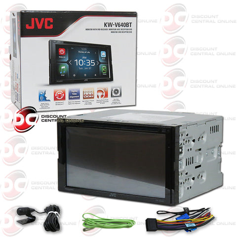 "JVC KW-V640BT 2-Din Car 6.8"" Car AM/FM/CD/DVD Receiver with Bluetooth"
