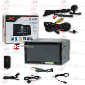 "JVC KW-V820BT 2DIN 6.8"" CAR CD DVD STEREO BLUETOOTH WITH IPHONE ANDROID CONTROL AND UNIVERSAL 170° WIDE ANGLE REAR VIEW CMOS BACK UP WITH NIGHT VISION CAMERA"